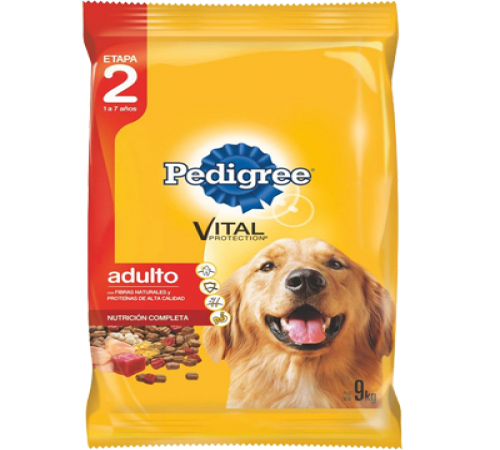 Pedigree Adulto Carne 9k + Snacks De Regalo