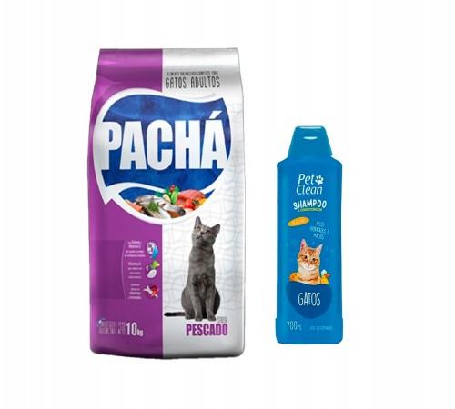 Pachá Gatos Adultos 10k + Shampoo de Regalo