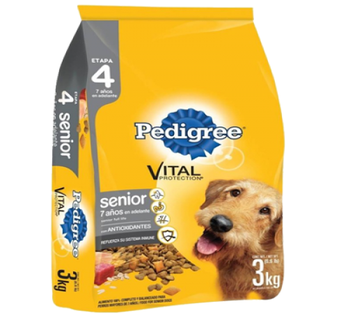 Pedigree Senior 21k + Snacks De Regalo