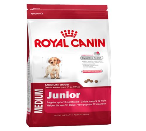 Royal Canin Medium Junior 15k + Snacks De Regalo