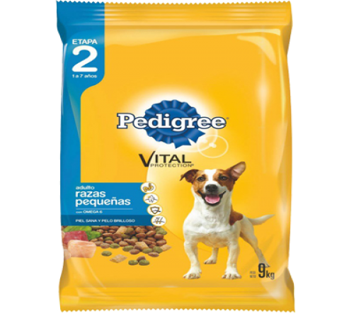 Pedigree Adulto Raza Pequeña 9k +Snacks De Regalo
