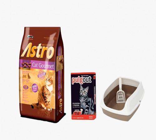 Astro Cat Gourmet 10k +Bandeja Sanitaria + Pulgout de Regalo