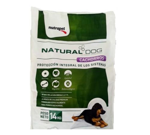 Natural Dog Cachorro 14k + Pelota ,Cuerda , peine o Freisby de regalo a eleccion