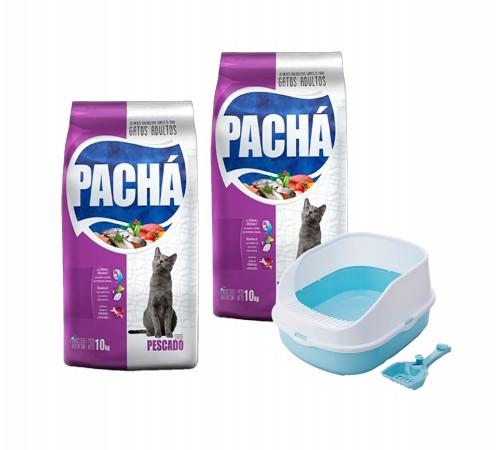 Pachá Gato Adulto 10k + 10k + Bandeja Sanitaria y Pala Gatera de Regalo